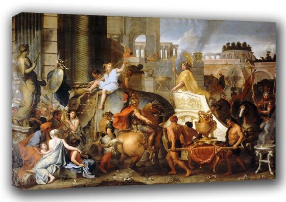 Le Brun, Charles: The Entry of Alexander into Babylon. Historical Fine Art Canvas. Sizes: A3/A2/A1 (00595)